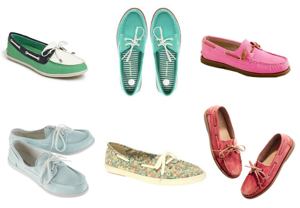 colorful boat shoes spring 2012 shoe trend