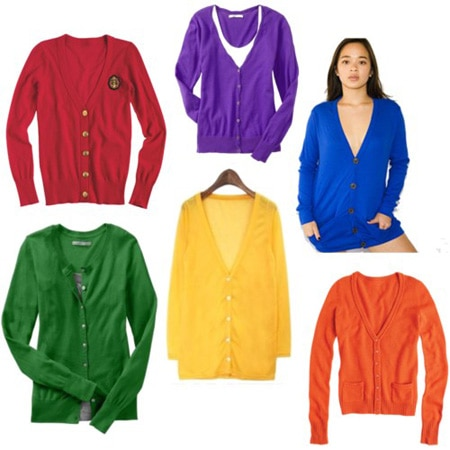 Colorful cardigans