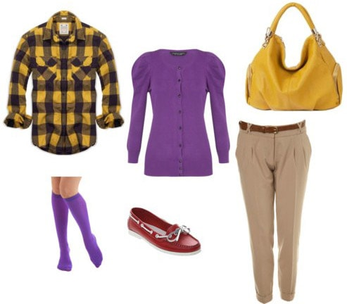 Colorful outfit for girls inspired by Chuck Bass from Gossip Girl