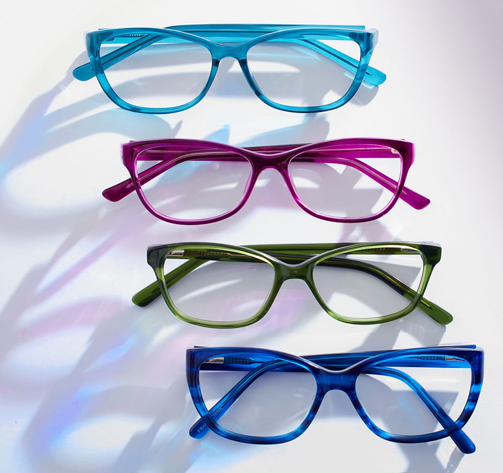 Colorful glasses from Cohen's Collective