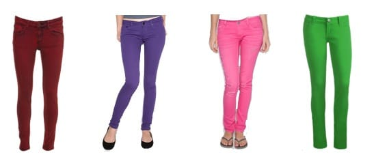 Colorful jeans