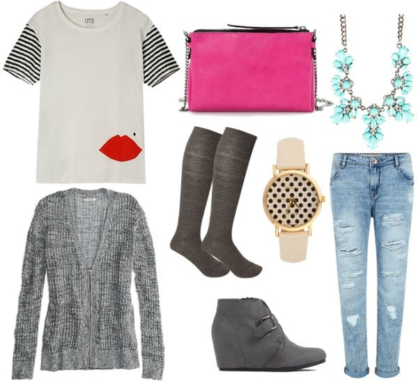 Colorful preppy outfit