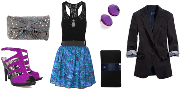 How to wear a colorful skirt - outfit for date night