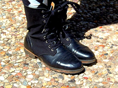Combat boots at texas a&m