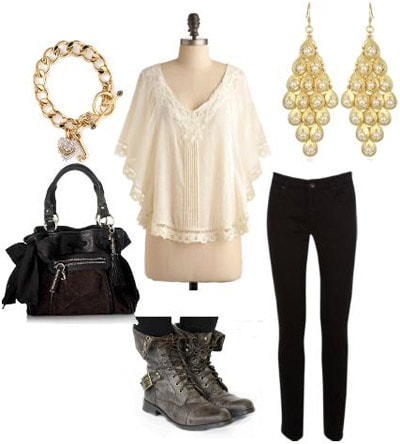 Combat boots outfit