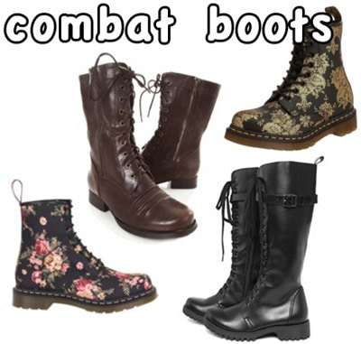 Cute combat boots for fall
