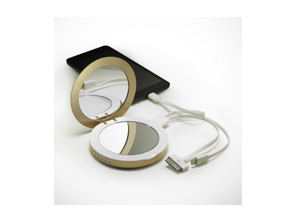 compact mirror usb charger