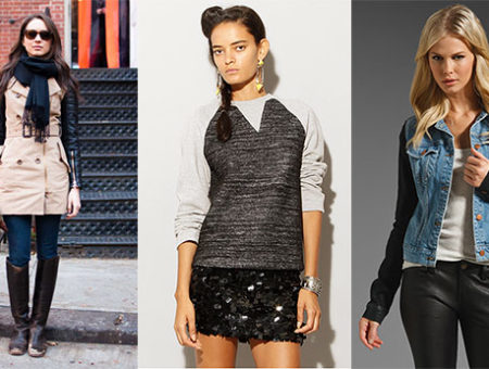 Contrasting sleeves fashion trend