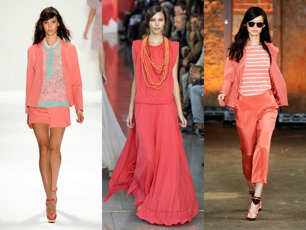 coral pink on the spring 2012 runways