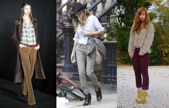 Cords on the runway, worn by SJP and blogger Shevah
