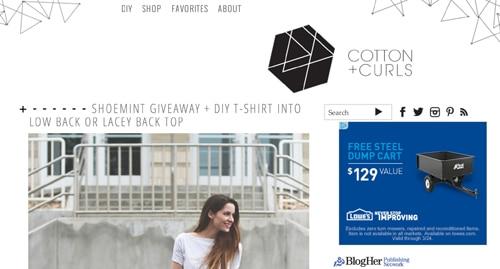 Cottonandcurls homepage