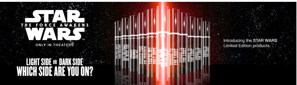 Covergirl x Star Wars makeup collection banner