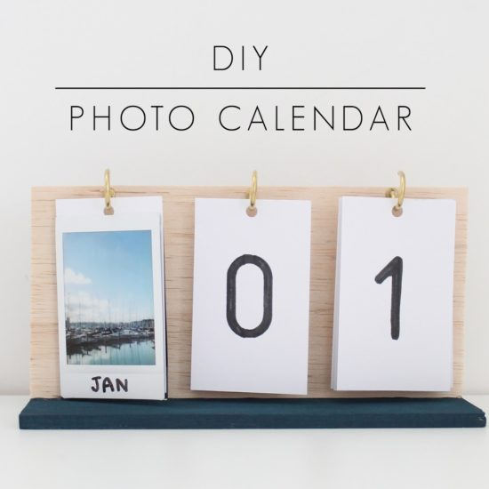 DIY photo calendar from Harri Wren