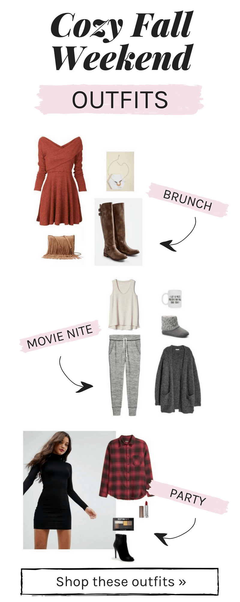 Cozy fall weekend outfits