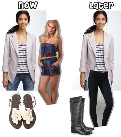 How to wear a cream blazer in summer and fall