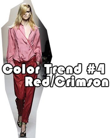 Fall 2010 color trend: red and crimson