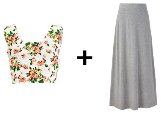 Easy Outfit Formulas: Crop Top and Maxi Skirt