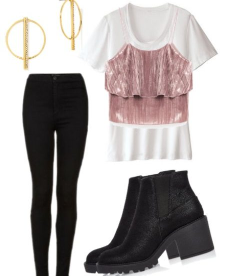edgy crop top over shirt edgy