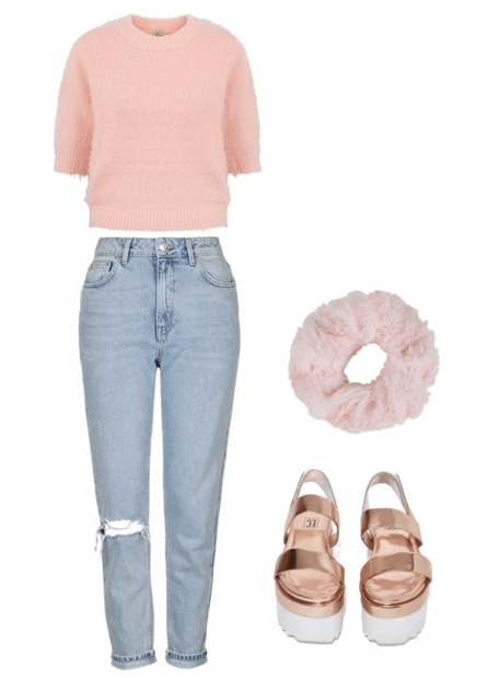 cropped sweater look