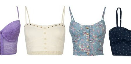 Cropped corset tops