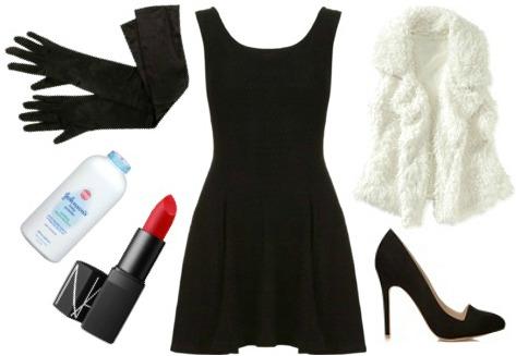 Cruella de vil costume - black dress Halloween costume ideas