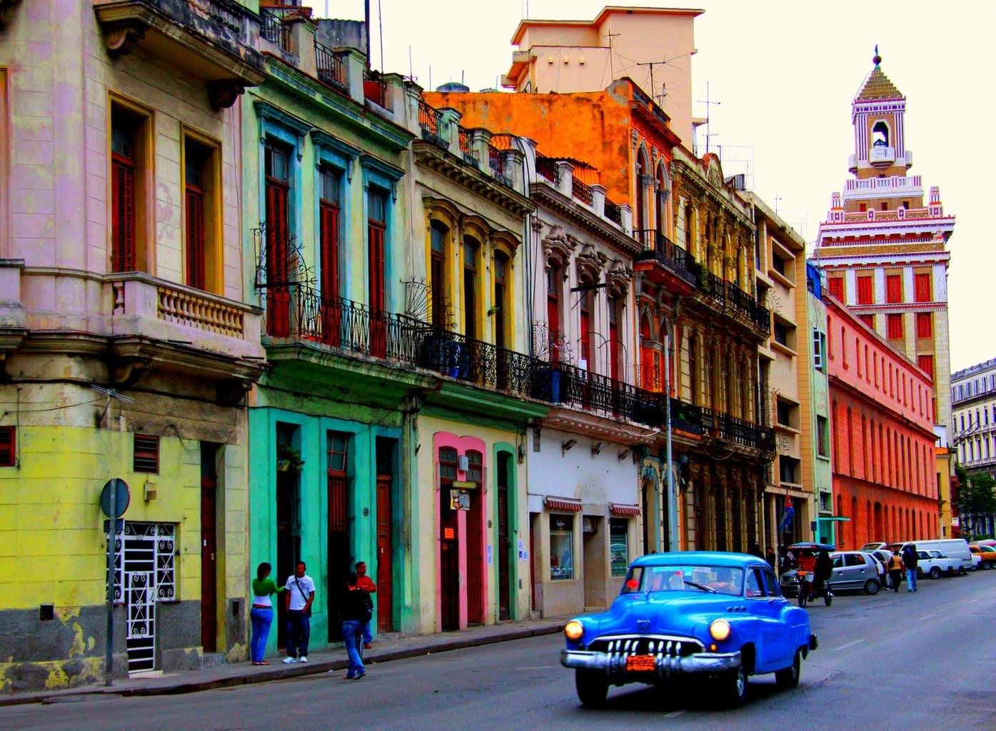 colorful cuban street