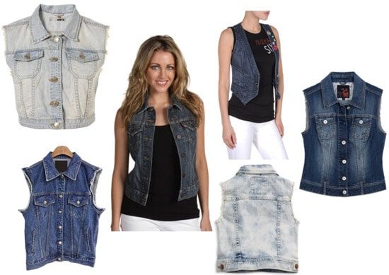 Cute and trendy denim vests