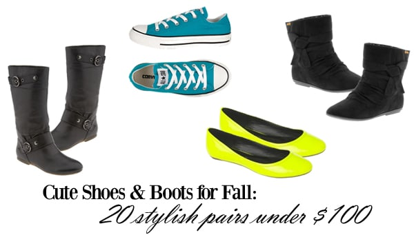 Cute shoes and boots for fall under 100 dollars