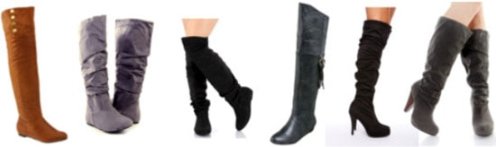 Cute and affordable over-the-knee boots