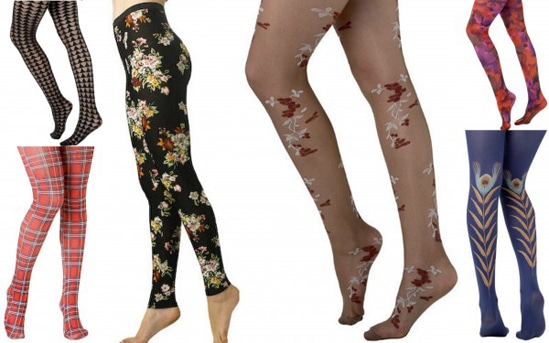 Cute patterned tights