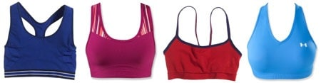 Cute colorful sports bras