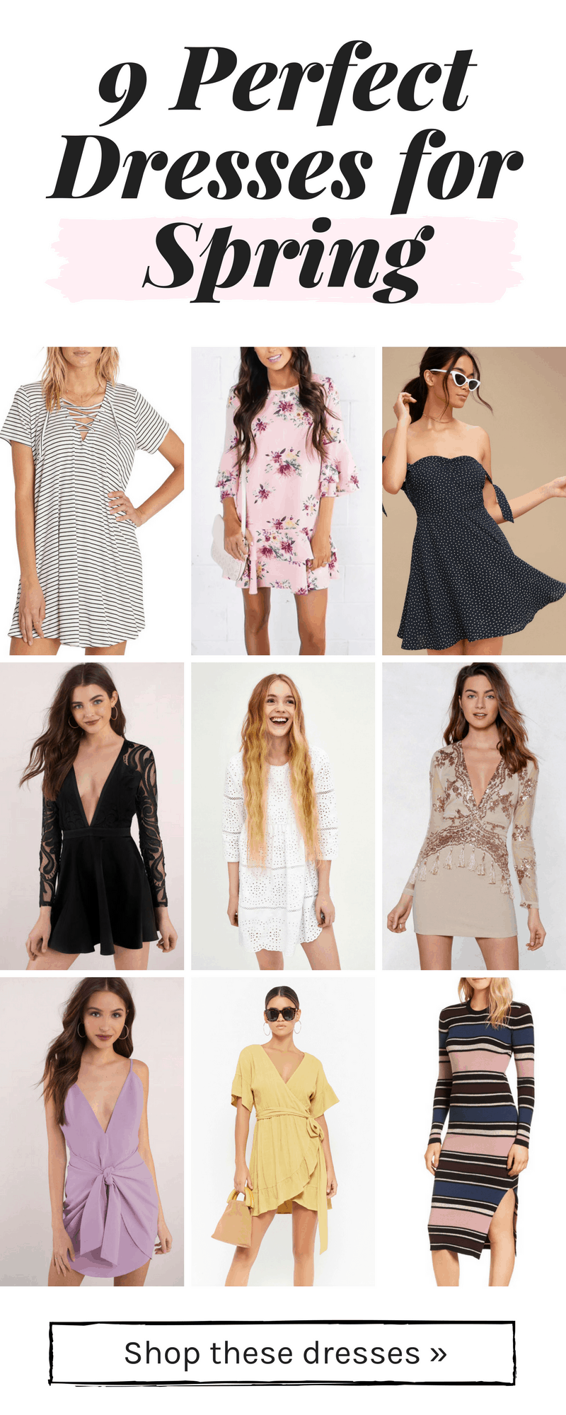 Cute spring dresses for 2018 - 9 perfect dresses for all of your spring events