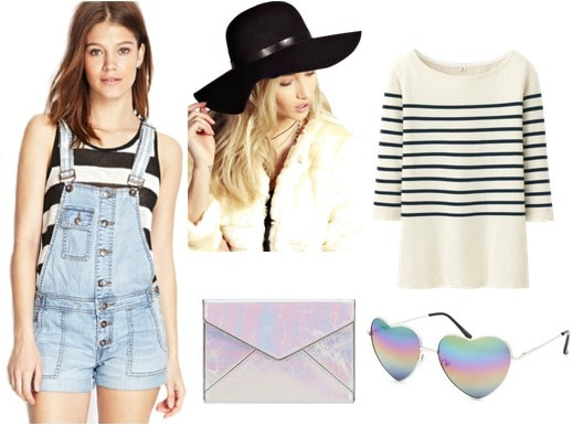 Cute striped shirt outfit