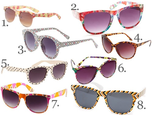 Cute and affordable printed sunglasses