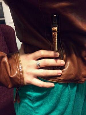 Cute tasseled leather jacket