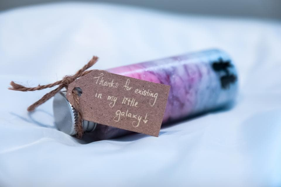 Cute, colorful, galaxy gift to show thanks