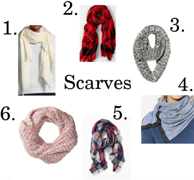 Cute winter scarves