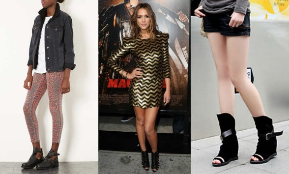 Cutout boot trend