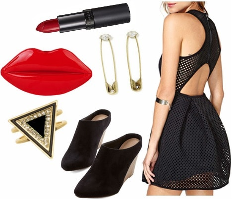 Cutout LBD party look