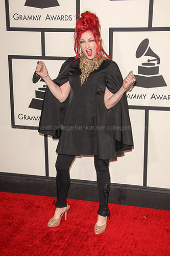 Cyndi Lauper in Alexander McQueen at the 2014 Grammy Awards