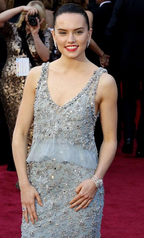 Daisy Ridley at the 2016 Oscars