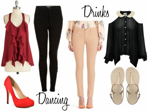 Dancing drinks outfits