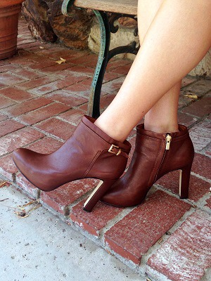 Dark brown booties for summer