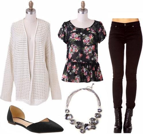Dark florals spring fashion trend