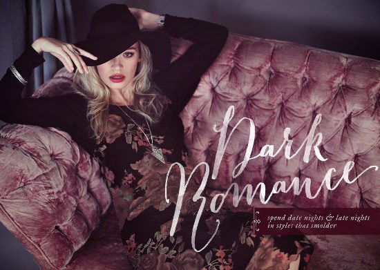 Dark romance lookbook title