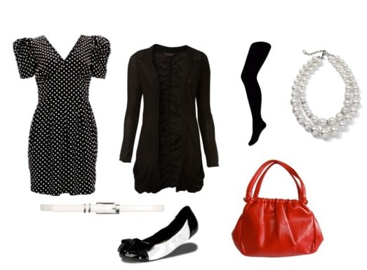 How to wear polka dots at night