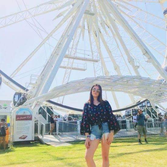 Me in front of the ferris wheel
