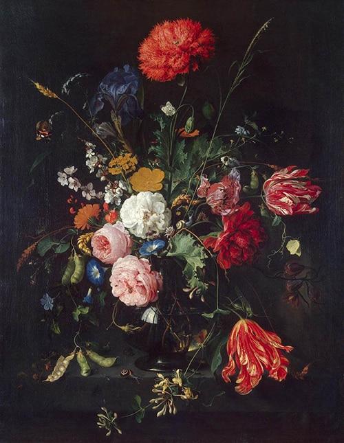 De heem vase of flowers