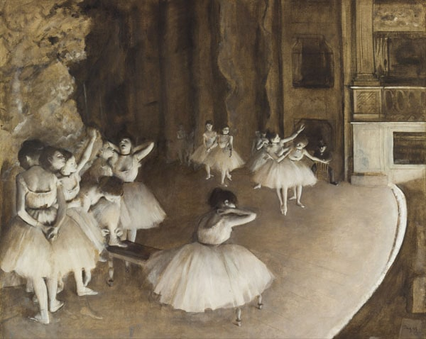 Degas ballet rehearsal