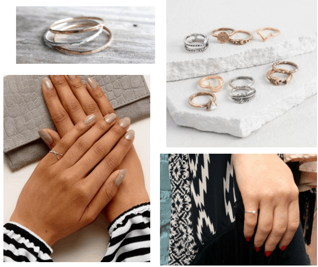 Minimalist jewelry trends: Delicate pinky rings